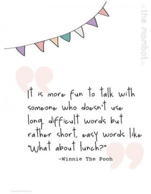 What about lunch winnie the pooh picture quote