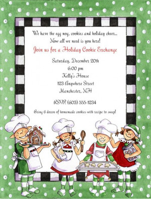 Invite for a cookie swap