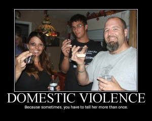 domestic violence sarcastic motivational poster