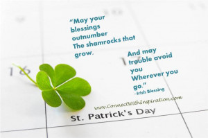 St Patrick day Quote, Inspirational Quote, May Trouble Avoid You