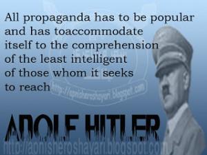 Adolf Hitler Propaganda quotes
