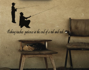308-SPQ Fishing Quote-Vinyl Wall Decal-39X22 inches-sticker