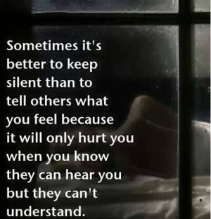 sometimes it's best to stay silent...