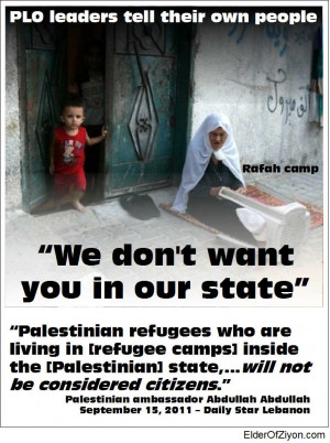We don't want you in Palestine
