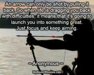 An arrow can only be shot by pulling it back.