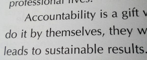 ... personal accountability specifically accountability vs obligation is