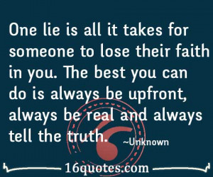 tell the truth quotes