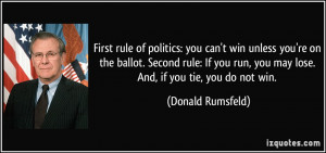 First rule of politics: you can't win unless you're on the ballot ...