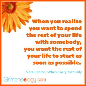 Girlfriendology harry met sally quote, friendship quote