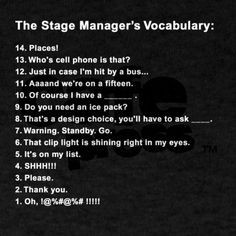 stage manager stage manager more theatres tech theatres life ...