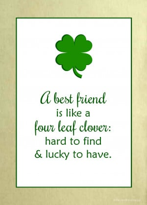 Irish Friendship Quote for St. Patrick's Day,