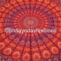 Mandala Hippie Hippy Tapestry indian Wall Hanging Throw Cotton fabric ...