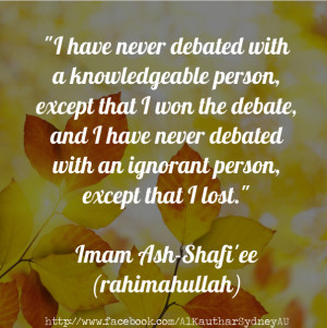 Quotes About Ignorant People Debating with an ignorant