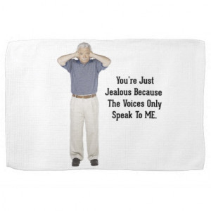 The Voices - Funny Sayings Quotes Kitchen Towels