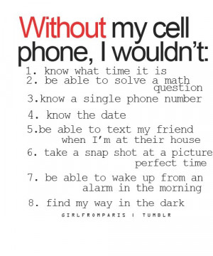 cell, life, phone, quote, sad, without