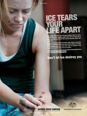 Graphic … last year's Federal Government-funded anti-ice ad.