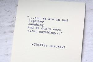 Charles Bukowski Typewriter Quotes (1)