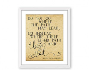 60% OFF SALE Ralph Waldo Emerson Quote, Printable Art, Do Not Go Where ...