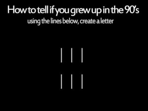 How to tell if you grew up in the 90s. Using the lines below, create a ...