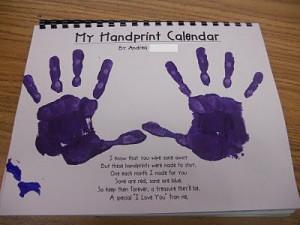 handprint calendar--more handprint ideas