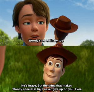 disney #toy story3 #andy #woody #he'll never give up on you #special ...