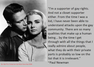 Paul Newman on Gay Rights