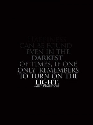 ... times, if one only remembers to turn on the light ~ Albus Dumbledore