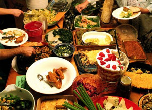 ... between potlucks and caterers – and how they relate to church