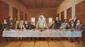 The famous Last Supper wallpaper