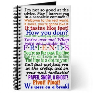 ... gifts chandler journals spiral notebooks friends tv quotes journal