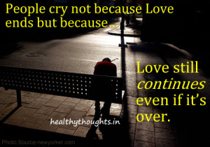 Love Still Continues Even If It's Over…