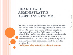 Administrative Assistant Cover
