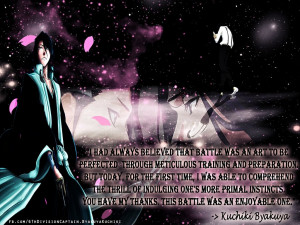 Bleach Quotes About Life Byakuya kuchiki quote #3 by