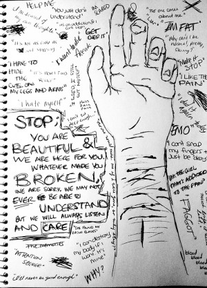 ... blood depression suicide self harm self hate cut cutting emo addiction