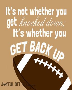 Motivating Sports Quotes PRINTABLE Signs. Football Soccer Baseball ...