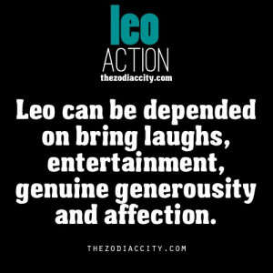 Zodiac Leo action.