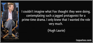 imagine what Fox thought they were doing, contemplating such a jagged ...