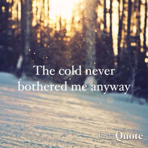 Let it go Elsa frozen... I love this song and movie:)