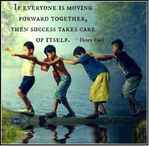 If everyone is moving forward together...