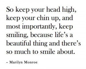 So keep your head high quote