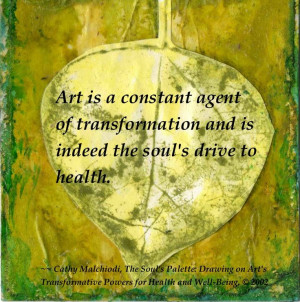 Cathy Malchiodi Art Therapy Quote