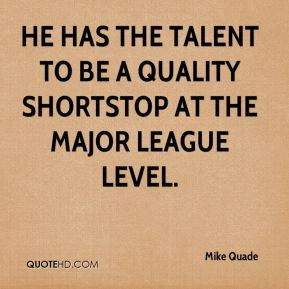 Mike Quade - He has the talent to be a quality shortstop at the Major ...