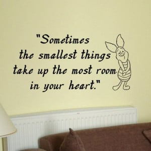 ... wall quote vinyl by kisvinyl, $20.99 piglet quote wall sticker decal