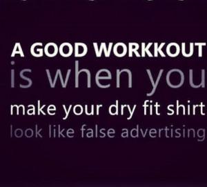 good workout