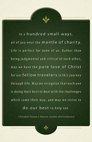 Lds quotes on love and service