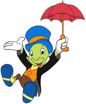 Jiminy Cricket! I did not have the top hat, unfortunately, but I did ...