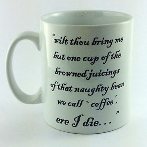 Details about BROWNED JUICINGS COFFEE BEAN QUOTE BLACKADDER GIFT CUP ...
