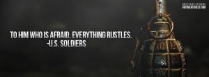 Soldiers Arent Afraid Facebook Cover