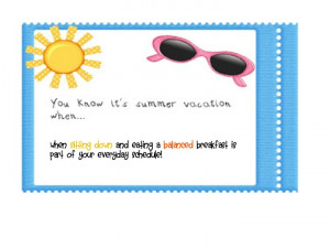 Summer Vacation Quotes...