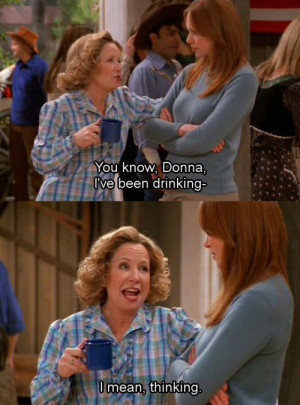 That 70's Show kitty drinking, ı mean thinking